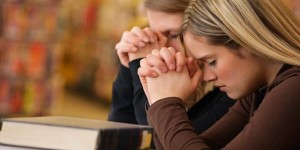 students_pray